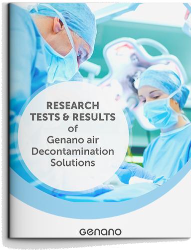 Genanon ilmanpuhdistusratkaisuja koskevia tutkimuksia ja testituloksia